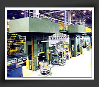 125 ton~3000 ton Hydraulic Cold Forging Press with robots & automation systems installed in Taiwan.