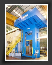 "3300 ton bolster size 78"" x 60"" Hydraulic Cold Forging Press installed in the United States."